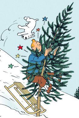 christmas tree tintin