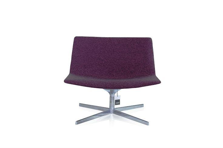 Arper Catifa 80 Lounge fauteuil (paars)>Design meubilair>PUNT040 kantoor- en designmeubilair