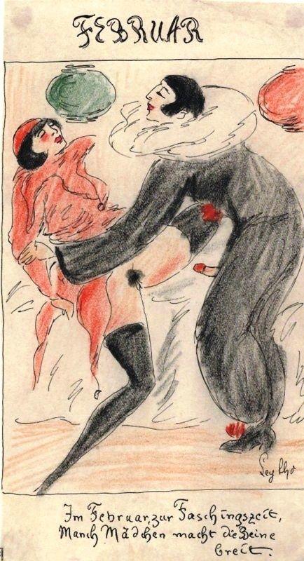 En Février, en période de carnaval, maintes demoiselles écartent les cuisses.