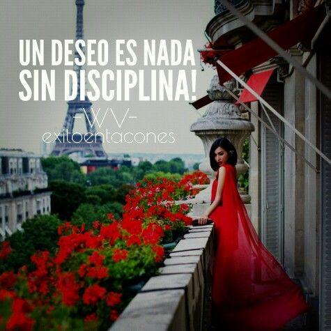 Tu DISCIPLINA será la clave de tu Éxito!!! -WV- Síguenos por Instagram…