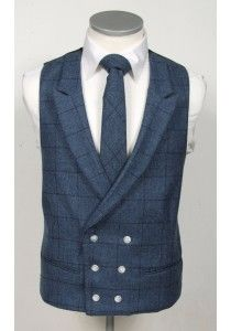 Dark blue check English tweed grooms wedding waistcoat double breasted ideal for vintage weddings #tweed #weddingwaistcoat #waistcoat #groom #groomwaistcoat