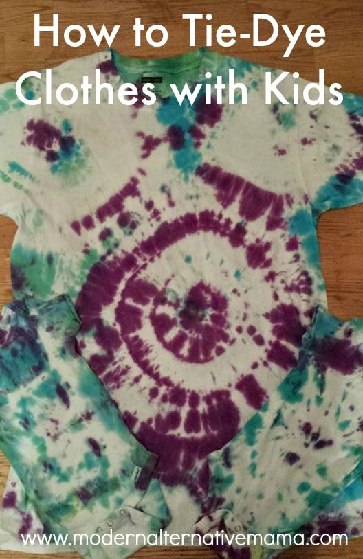 easy tie dye instructions for kids