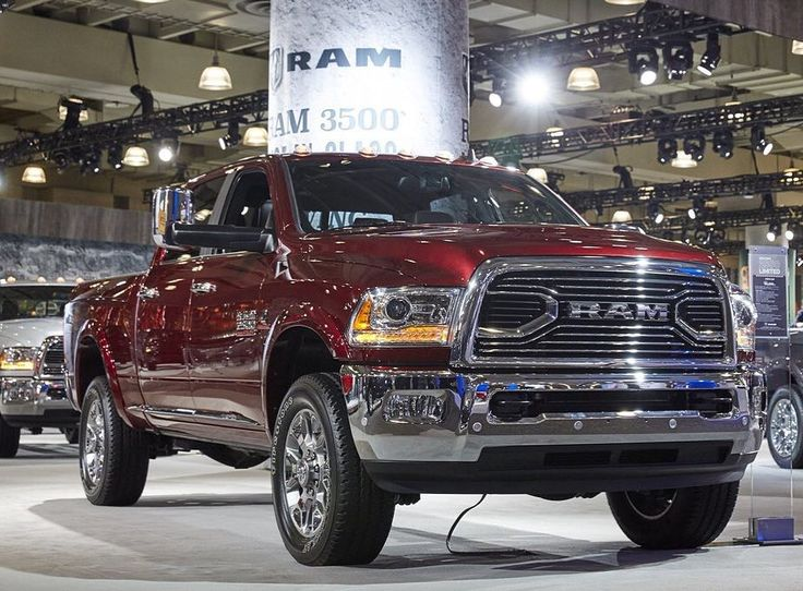 An inside look at the full Ram Trucks display at the 2016