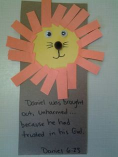 Daniel and the lion's den craft