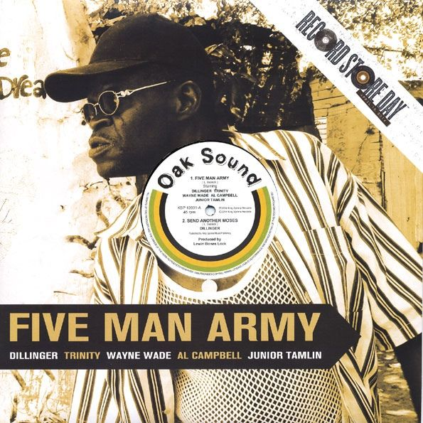 "Dillinger, Trinity (4), Al Campbell, Wayne Wade, Junior Tamlin* - Five Man Army: buy 12"", Single, RM at Discogs"