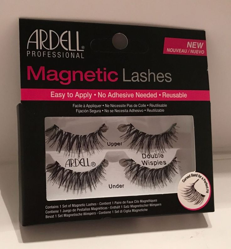 Ardell Magnetic Strip Lash Double Wispies eye lashes 4 small secure magnets   | eBay