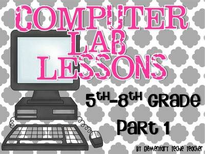 Computer Lab Lessons Part 1 from Elementary Techie Teacher on TeachersNotebook.com (41 pages)