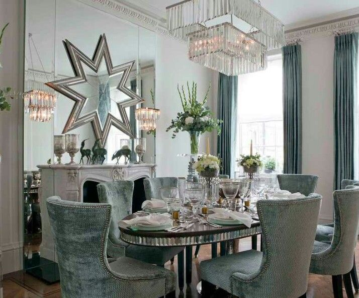 How To Wow Your Guests With A Dramatic Dining Room Mix High Drama And Glamorous Opulence Create The Perfect Entertaining Space Contemporary