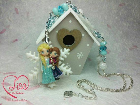 for sale on my Etsy shop https://www.etsy.com/it/listing/257758952/collana-elsa-e-anna-frozen-disney