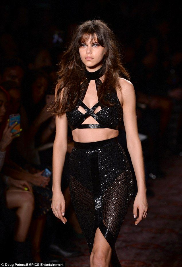 Turning heads: Georgia Fowler stunned on the second day of London Fashion week as she hit the runway for Julien Macdonald