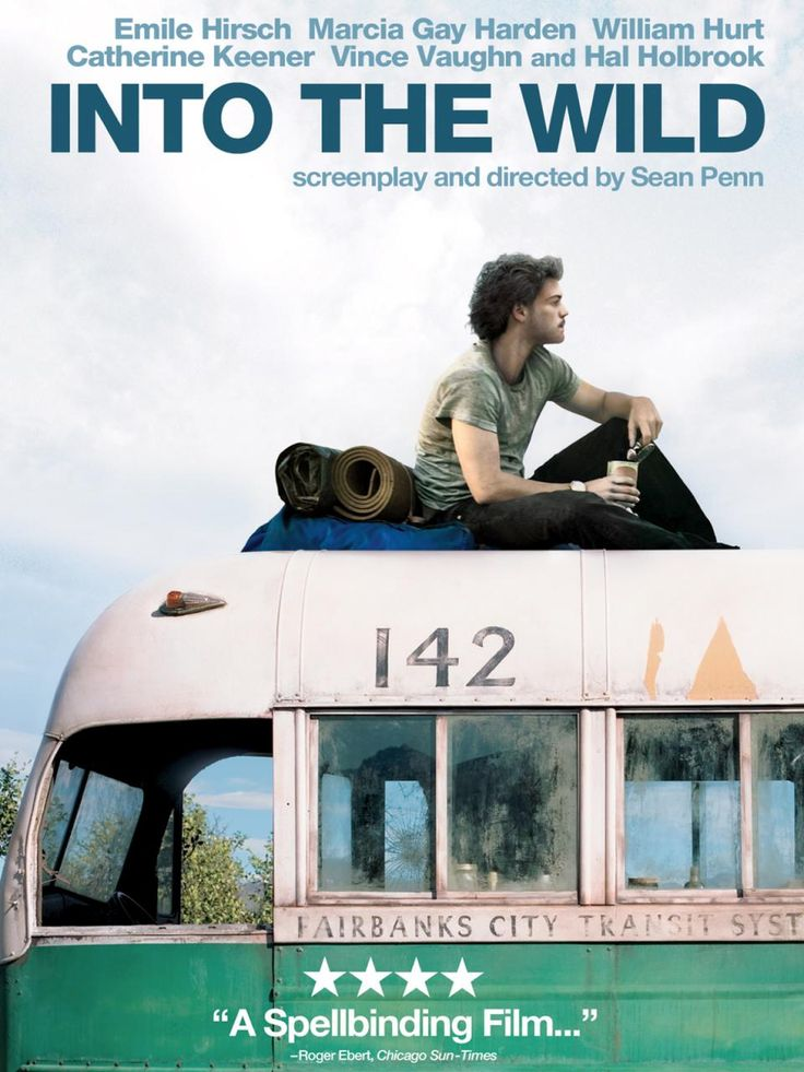 INTO THE WILD - Christopher McCandless (Emile Hirsch), son of wealthy parents (Marcia Gay Harden, William Hurt), graduates from Emory University as a top student and athlete. However, instead of embarking on a prestigious and profitable career, he chooses to give his savings to charity, rid himself of his possessions, and set out on a journey to the Alaskan wilderness.  #travel #movies #intothewild #trailer