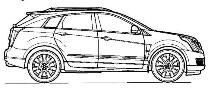 Cadillac Escalade Coloring Pages