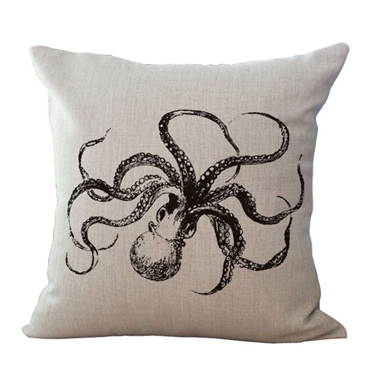 Is it Octopuses or Octopi? The only hard question with these gorgeous octopus cushion covers, is which one will you choose?