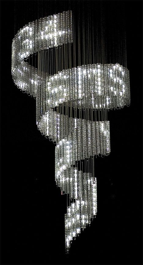 Ron arad the lolita chandelier designed for swarovskis crystal palace collection swarovski crystals set with leds