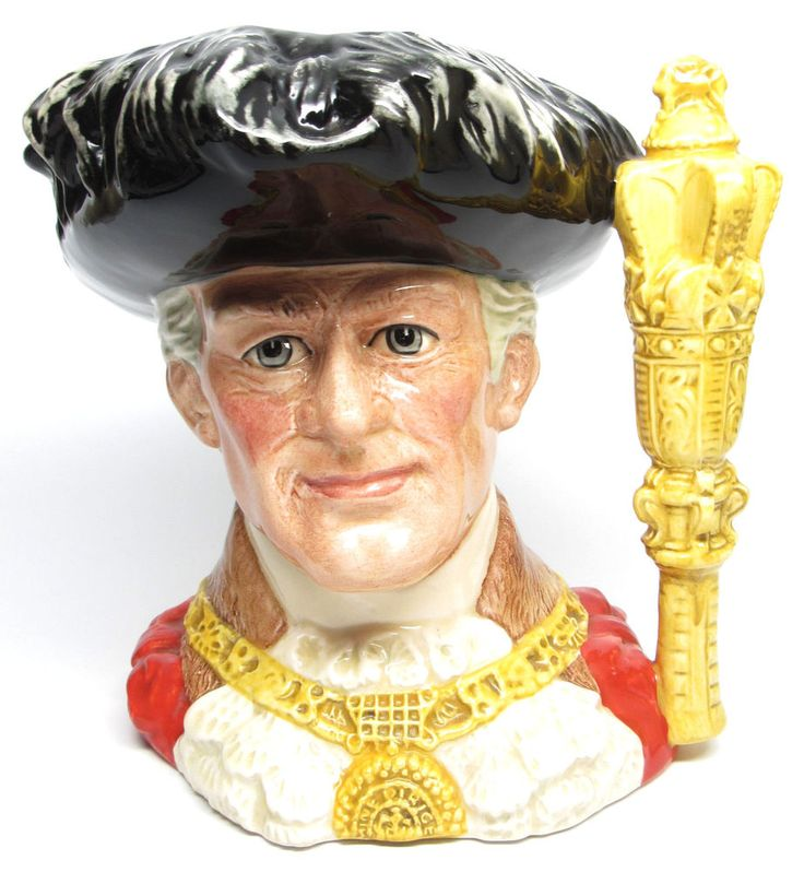 """Large Royal Doulton Character Jug """" The Lord Mayor of London """"  Toby Mug D6864"""