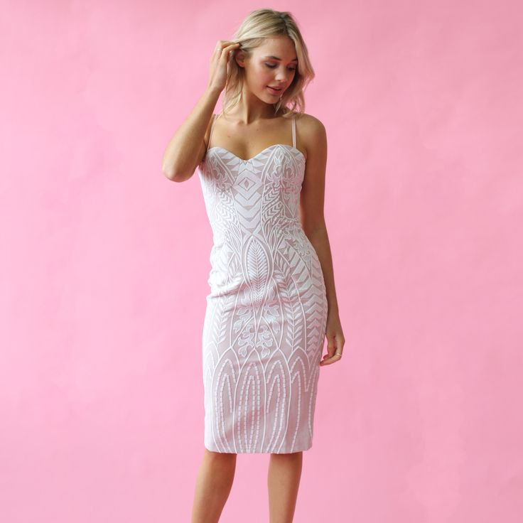 Mossman - The Enchanted Garden Thin Strap Dress in sizes 6-10 for $49