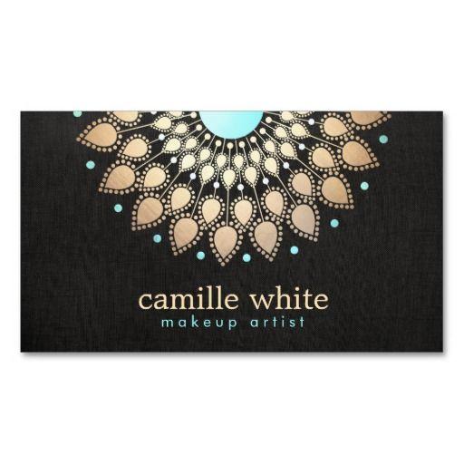 230 best makeup artist business cards images on pinterest make up elegant faux gold lotus flower black business card colourmoves