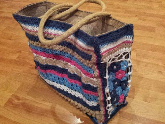 AH tas met verschillende haaksteken uit 'haaksteken-bijbel' Gemaakt voor mezelf