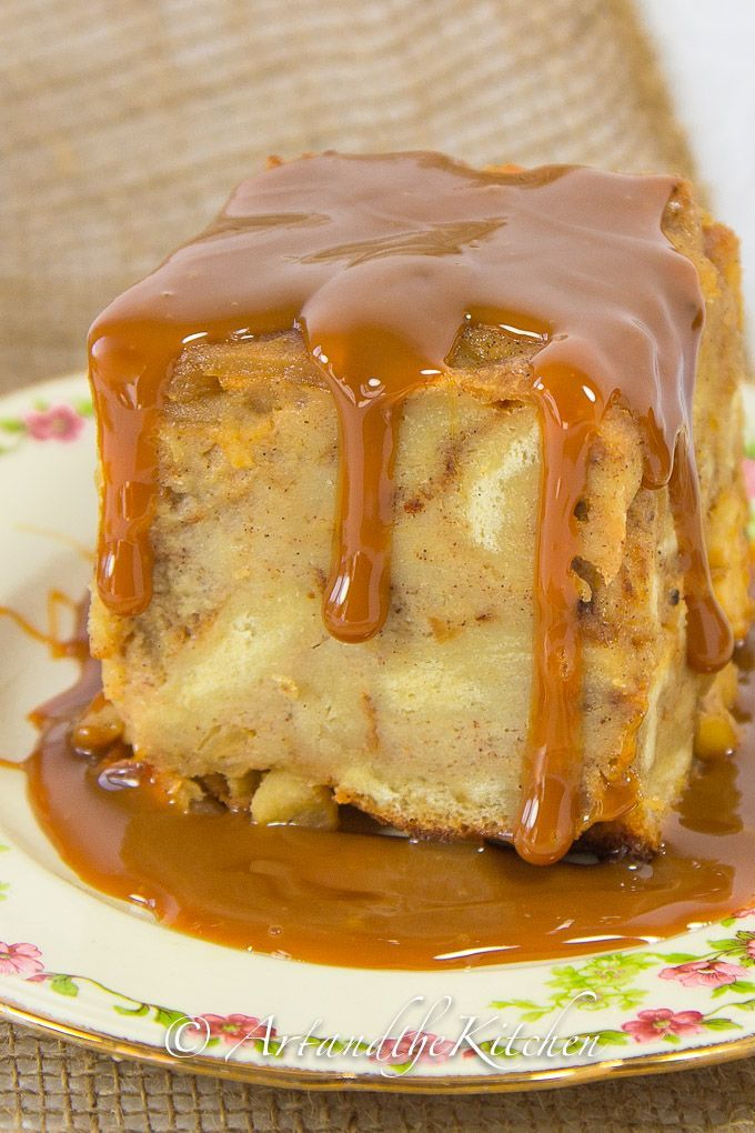 Apple Bread Pudding - Art and the Kitchen- an old fashioned classic dessert, and this recipe for Apple Bread Pudding is exceptional.