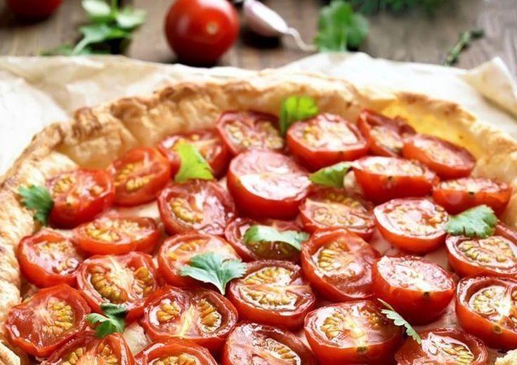 Tomatentaart met amandelbodem