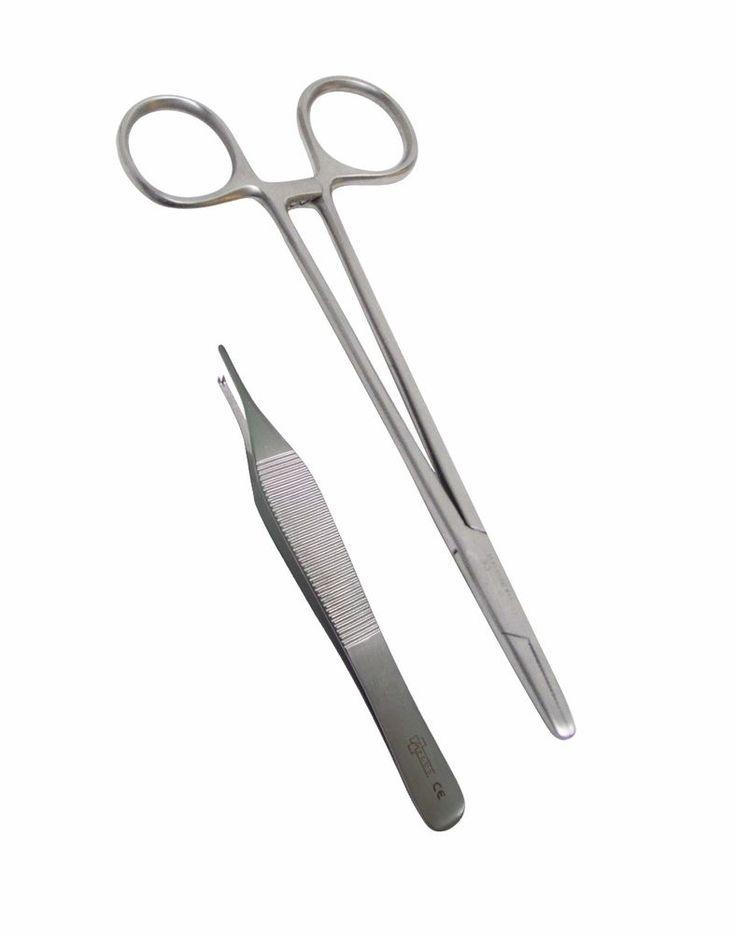 First Aid Tools Medical Nurse Basic Suture Kit Mayo Hegar Needle Holder Tweezers #TKPlusLtd