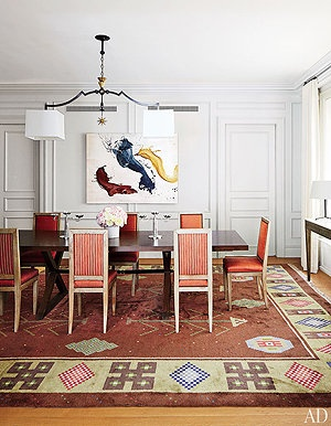 Nina Garcia's Upper East Side Apartment NYC/ Dining Room: Dining Rooms, Nina Garcia, Fabrics Projects, Interiors Design, Projects Runway, Apartment, Lights Fit, Architecture Digest, Garcia Manhattan