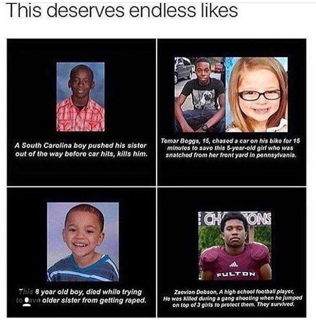 All of them, young black men. And yet we continue to see them shot down (figuratively and literally) and treat and convince them that they aren't worth anything and never will be. Much love to you beautiful boys! God Bless!!