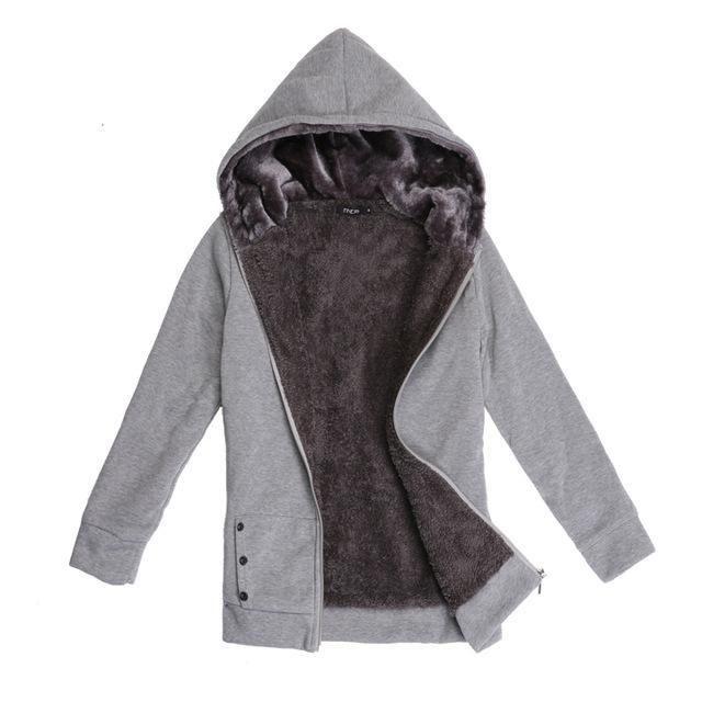 9497722d224 FANALA Women Hoodies Sweatshirt 2017 Winter Warm Hoodie Zipper Pocket Plush  Full Sleeve sweatshirts ladies Plus