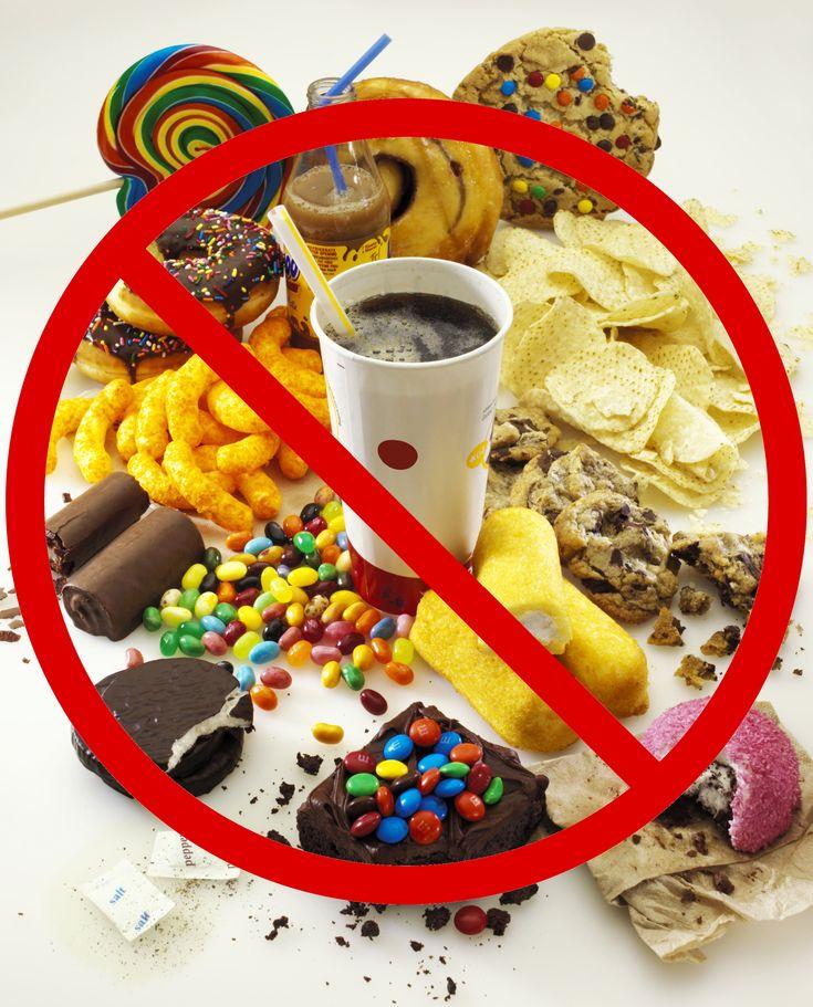 No Junk Food Sign