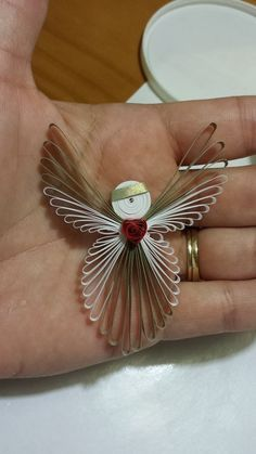 Paper Quilled Angel Ornament $6
