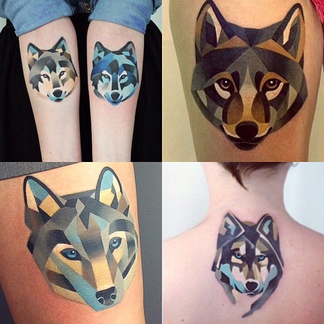 Where is your favorite? #wolftattoo #sashaunisex ⚡️💛⚡️