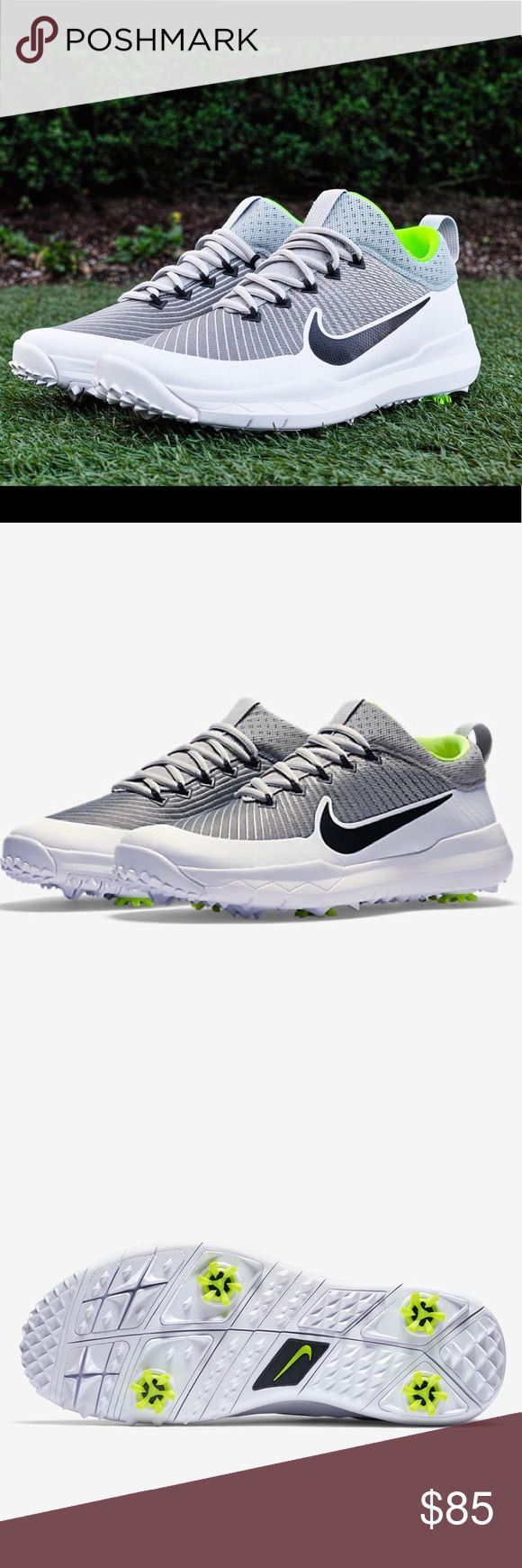 NWT Nike FI Premiere Mens Golf Shoes Please make offers! Men size 9 Gray and White Original price $200 Brand new never worn! ***Sizes 8, 10, 10.5, 11.5 Available in Black/Turquoise*** ***See other listings*** Nike Shoes Athletic Shoes