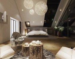 Projekt wnętrz 58m2. Pleśna - Sypialnia, styl nowoczesny - zdjęcie od PROJEKTYW | Architektura Wnętrz & Design