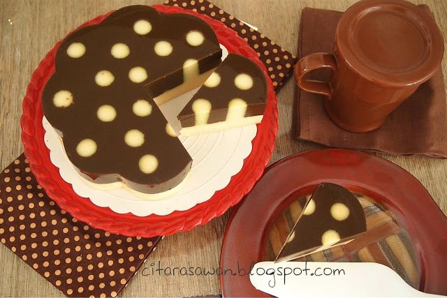 Recipes today - Puding Kentang Lapis Coklat Polkadot