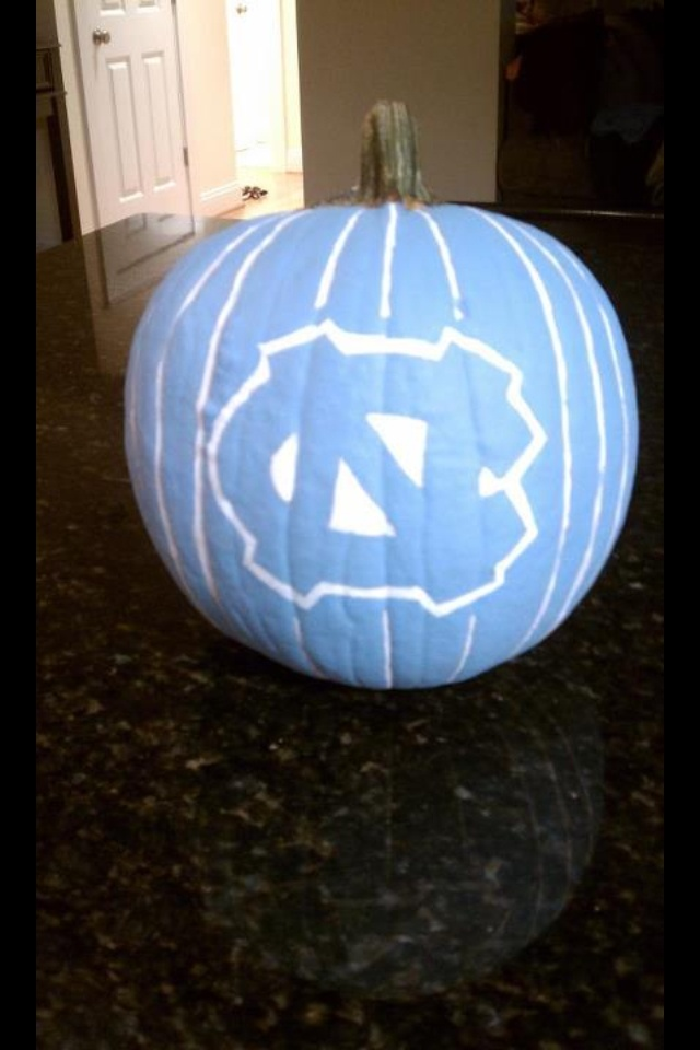 Nothing says happy Halloween like a UNC pumpkin...