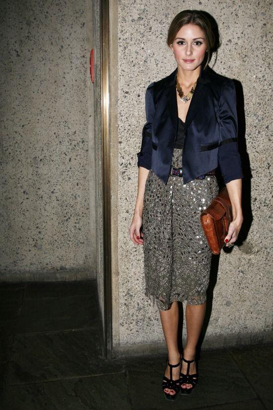 Olivia Palermo. Statement pencil skirt & fit blazer