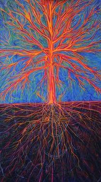 "Saatchi Art Artist Lola Lonli; Painting, ""Tree as it is"" #art"