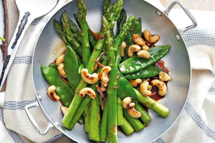 Nutritional and crunchy, this asparagus side dish is hard to pass up.