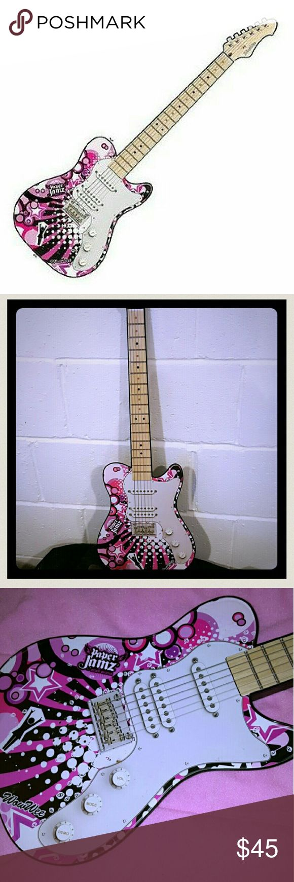"""Wow Wee Paper Jamz Guitar Series II - Style 3 Girls like """" Real """"Guitar toy (Include musics) Age 8 + Great Condition  RARELY PLAY Needs new battery  NO damages wow wee Other"""