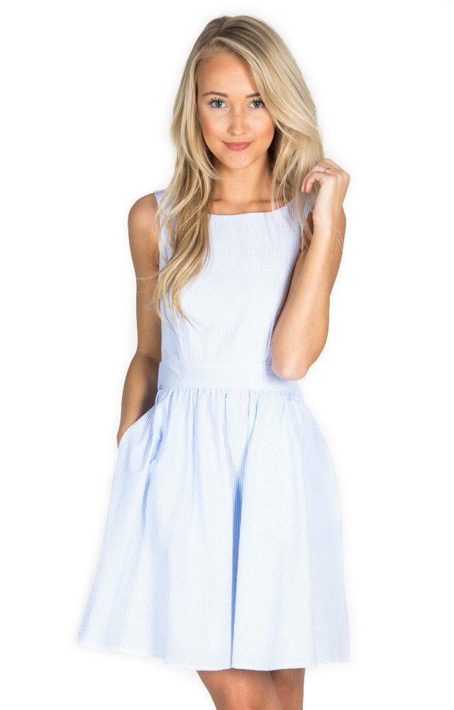 The 25  best Seersucker dress ideas on Pinterest   Seersucker ...