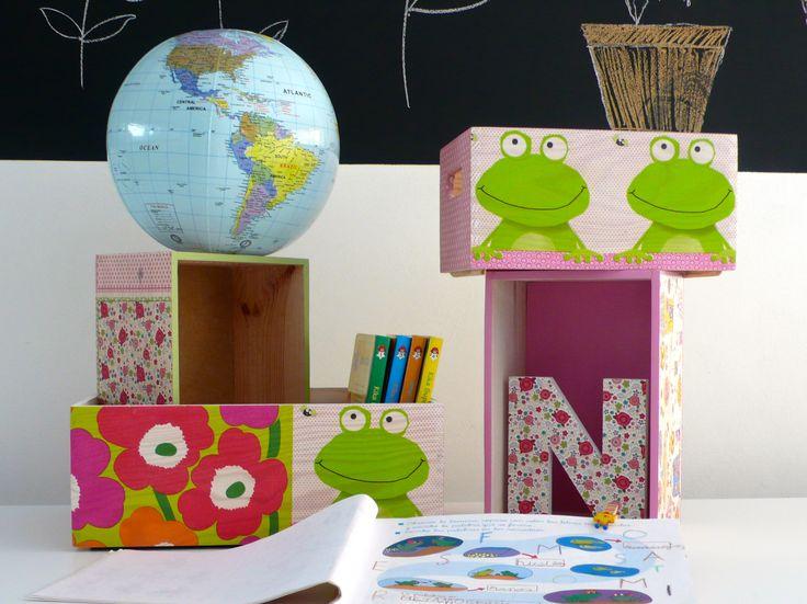 Cajas de madera decoradas en decoupage. Wooden box decoupage. www.elpiojito.es: Las Cajas, De Elpiojito, Boxes, Wood, Wooden Boxes, Futuros Proyectos, Boxes Decoupage, Decoradas En, Madera Decoradas
