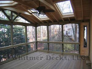 Screened porch with skylights--something like this might work