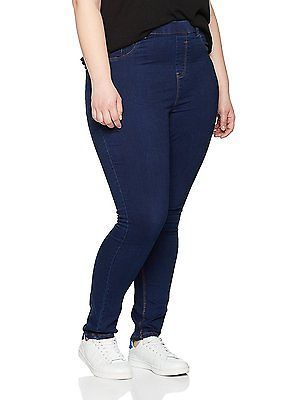 26, Blue (Navy), New Look Curves Women's 5 Pocket Jeans