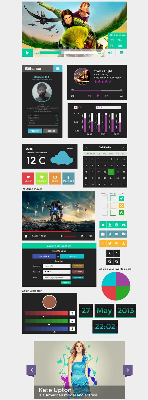 Pixels Flat UI X1 by Mansoor MJ