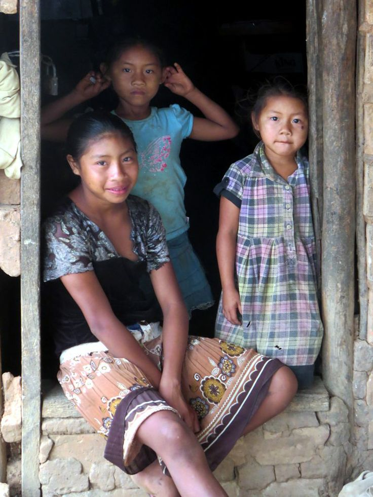 These Amerindian children live on a cattle ranch near Karanambu Lodge, Guyana.