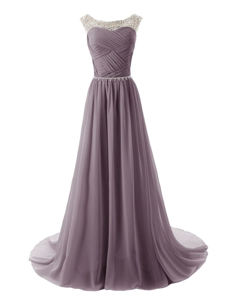 Dressystar Beaded Straps Bridesmaid Prom Dresses with Sparkling Embellished Waist at Amazon Women's Clothing store: