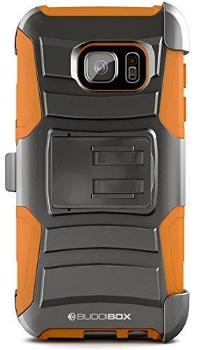 Galaxy S7 Case BUDDIBOX [HSeries] Heavy Duty Swivel Belt Clip Holster with Kickstand Maximal Protection Case for Samsung Galaxy S7 (Orange)