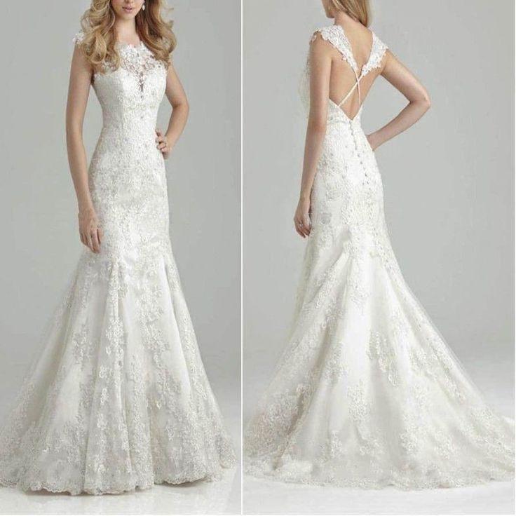 robe de mariée bretelles croisées dans le dos
