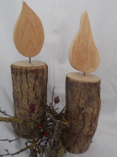 Schöne Kerze aus Holz - groß ) von Allgaeu-Andi                                                                                                                                                                                 Mehr
