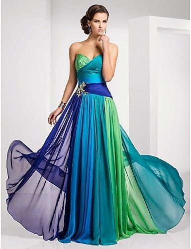 TS Couture® Prom / Formal Evening / Military Ball Dress - Color Gradient Plus…